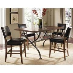 Buy Hillsdale Cameron 5 Piece 72x40 Counter Rectangle Dining Set w/ Parson Stools on sale online