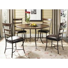 Buy Hillsdale Cameron 5 Piece 48x48 Dining Room Set w/ Metal Table and Ladder Back Chairs on sale online