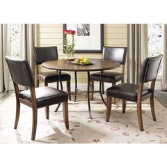 Buy Hillsdale Cameron 5 Piece 48x48 Dining Room Set w/ Metal Table and Parson Chairs on sale online