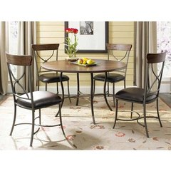 Buy Hillsdale Cameron 5 Piece 48x48 Dining Room Set w/ Metal Table and X Back Chairs on sale online