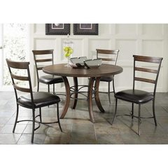 Buy Hillsdale Cameron 5 Piece 48x48 Dining Room Set w/ Wood Table and Ladder Back Chairs on sale online