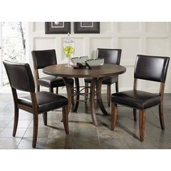 Buy Hillsdale Cameron 5 Piece 48x48 Dining Room Set w/ Wood Table and Parson Chairs on sale online