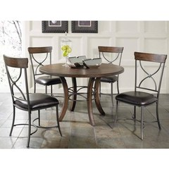 Buy Hillsdale Cameron 5 Piece 48x48 Dining Room Set w/ Wood Table and X Back Chairs on sale online