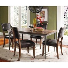 Buy Hillsdale Cameron 5 Piece 60x36 Dining Set w/ Parson Chairs on sale online