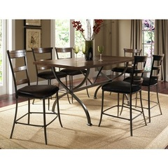Buy Hillsdale Cameron 7 Piece Counter Rectangle Dining Set w/ Ladder Back Stools on sale online