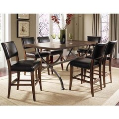 Buy Hillsdale Cameron 7 Piece Counter Rectangle Dining Set w/ Parson Stools on sale online