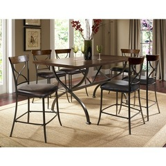 Buy Hillsdale Cameron 7 Piece Counter Rectangle Dining Set w/ X Back Stools on sale online
