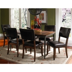 Buy Hillsdale Cameron 7 Piece 60x36 Dining Set w/ Parson Chairs on sale online