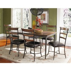 Buy Hillsdale Cameron 7 Piece Wood Dining Set w/ Ladder Back Chairs on sale online