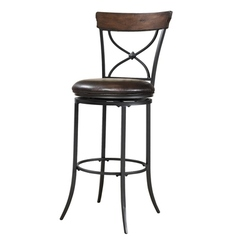 Buy Hillsdale Cameron 30 Inch Swivel Barstool in Chestnut Brown on sale online