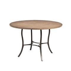 Buy Hillsdale Charleston 48x48 Metal Dining Table w/ Wood Top on sale online