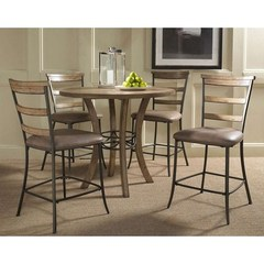 Buy Hillsdale Charleston 5 Piece 42x42 Counter Height Dining Set w/ Ladder Back Stools on sale online