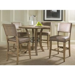 Buy Hillsdale Charleston 5 Piece Counter Height Dining Set w/ Parson Stools on sale online