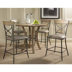 Buy Hillsdale Charleston 5 Piece 42x42 Counter Height Dining Set w/ X Back Stools on sale online