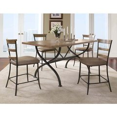 Buy Hillsdale Charleston 5 Piece 72x40 Counter Height Rectangle Dining Set w/ Ladder Back Stools on sale online