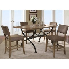 Buy Hillsdale Charleston 5 Piece 72x40 Counter Height Rectangle Dining Set w/ Parson Stools on sale online