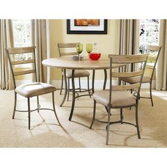 Buy Hillsdale Charleston 5 Piece 48x48 Dining Set w/ Ladder Back Chairs on sale online