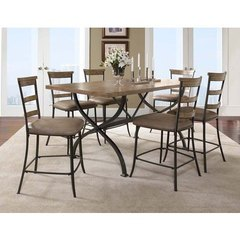 Buy Hillsdale Charleston 5 Piece 72x40 Dining Set w/ Ladder Back Stools on sale online
