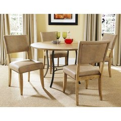 Buy Hillsdale Charleston 5 Piece 48x48 Dining Set w/ Parson Chairs on sale online