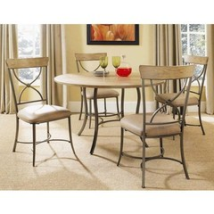 Buy Hillsdale Charleston 5 Piece 48x48 Dining Set w/ X Back Chairs on sale online