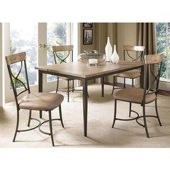 Buy Hillsdale Charleston 5 Piece 60x36 Rectangle Dining Set w/ X Back Chairs on sale online