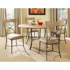 Buy Hillsdale Charleston 5 Piece 48x48 Round Dining Set w/ X Back Chairs on sale online