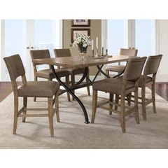 Buy Hillsdale Charleston 7 Piece Counter Height Rectangle Dining Set w/ Parson Stools on sale online