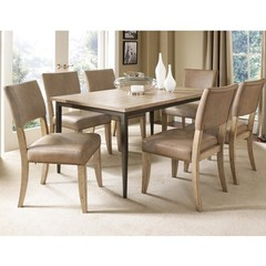 Buy Hillsdale Charleston 7 Piece 60x36 Rectangle Dining Set w/ Parson Chairs on sale online