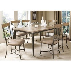 Buy Hillsdale Charleston 7 Piece 60x36 Rectangle Dining Set w/ X Back Chairs on sale online