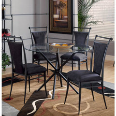 Buy Hillsdale Cierra 5 Piece Dining Room Set in Black on sale online
