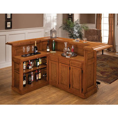 Buy Hillsdale Classic Oak Large Bar w/ Side Bar on sale online