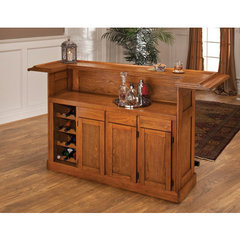 Buy Hillsdale Classic Oak Large Home Bar on sale online