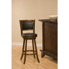 Buy Hillsdale Dennery Swivel 29 Inch Barstool in Cherry on sale online