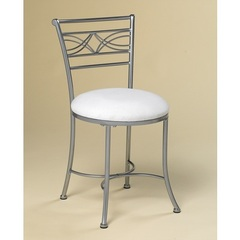 Buy Hillsdale Dutton Vanity Stool in Chrome Look Powder Coat on sale online