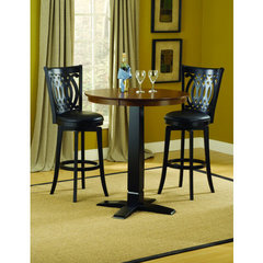 Buy Hillsdale Dynamic Designs 3 Piece Pub Table Set w/ Van Draus Stools on sale online