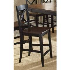Buy Hillsdale Englewood 24 Inch Counter Height Stool w/ Solid Seat (Set of 2) on sale online