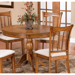 Buy Hillsdale Glenmary/Bayberry Pedestal 44x44 Round Dining Table in Oak on sale online