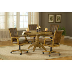 Buy Hillsdale Grand Bay 5 Piece Round Dining Room Set w/ Caster Chairs in Medium Oak on sale online