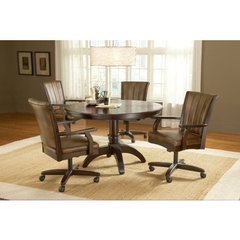 Buy Hillsdale Grand Bay 5 Piece Round Dining Room Set w/ Caster Chairs on sale online