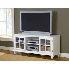 Buy Hillsdale Grand Bay 61 Inch Entertainment Console In White on sale online