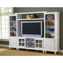 Buy Hillsdale Grand Bay 61 Inch Entertainment Unit In White on sale online
