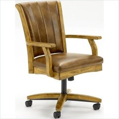Buy Hillsdale Grand Bay Caster Dining Chair in Medium Oak on sale online