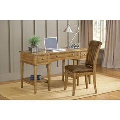 Buy Hillsdale Gresham Desk w/ Grand Bay Chair in Medium Oak on sale online