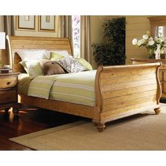 Buy Hillsdale Hampton King Sleigh Bed in Weathered Pine on sale online