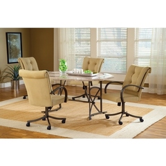 Buy Hillsdale Harbour Point 5 Piece 60x42 Octagon Dining Set w/ Caster Chair on sale online