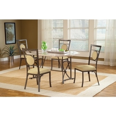 Buy Hillsdale Harbour Point 5 Piece 60x42 Octagon Dining Set w/ Metal Chair on sale online