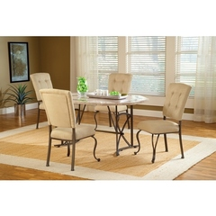 Buy Hillsdale Harbour Point 5 Piece 60x42 Octagon Dining Set w/ Parson Chair on sale online