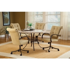 Buy Hillsdale Harbour Point 5 Piece 60x42 Round Dining Set w/ Caster Chair on sale online