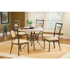 Buy Hillsdale Harbour Point 5 Piece 45x45 Round Dining Set w/ Metal Chair on sale online