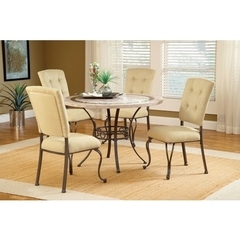 Buy Hillsdale Harbour Point 5 Piece Round Dining Set w/ Parson Chair on sale online
